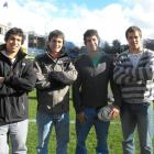 Chilean rugby players from The Grange School, who played in a curtain-raiser to the French...