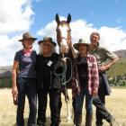 Chris Thompson (left), of Wanaka, Fleur Sullivan, of Moeraki, Magic, Deirdre Mackenzie, of...
