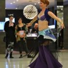 Christchurch belly dancer Aaralyn (aka Tracey Saunders) performs at the Meridian yesterday. Photo...