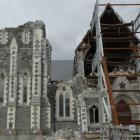 Christchurch Cathedral, a year after the  February 22, 2011, quake. Photo by Linda Robertson.