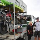 Christchurch couple Julie Truman and Mike Winter, and their dog Recho, were in Invercargill on...