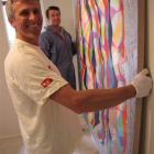 Christchurch gallery owner Jonathan Smart (left) is displaying top-end New Zealand artworks at...