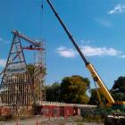 Christchurch's new cathedral takes shape in Latimer Square yesterday. Photo by radionz.co.nz