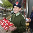 City of Dunedin Army Cadet Unit member Jethro Brandish (13) and RSA choir second tenor Ken Clark ...