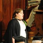 Mezzo-soprano Claire Barton sings at the Dunedin Town Hall shortly after she graduated from the...