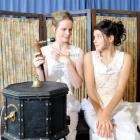 Claire Dougan (left) and Chelsea McEwan Millar rehearse Sarah Ruhl's  play <i>In the Next Room or...