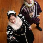 Clare Adams and Oscar Macdonald in the play Queen Catherine Masque. Photo by Peter McIntosh.