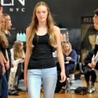 Clementine George (14), of St Hilda's Collegiate School, walks the walk at the casting event for...