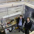 Clocktower creative director Sam Clarkson (left) and producer Evan Sunley James show off the...