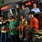 Clockwise from top: Film-maker Robert Rodriguez with his children Rocket, Rogue, Rhiannon, Rebel...