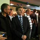 Clutha-Southland MP Bill English talks to supporters at an election night function in Gore on...