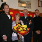 Clyde Chief Fire Officer Richard Davidson with wife Vivien, and sons Daryl (left) and Kevin ...