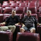 Clyde Cinema manager Sam Smyth (left) and the man who built it, Mark Laing, take a comfy seat in...