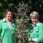 Changing form: Rhonda Hall and Rae Baxter, of Winton with one of the works created by the 40...
