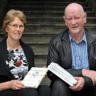 Co-authors Lesley Elliott and Bill O'Brien in Dunedin  with their book Loves Me Not: How to Keep...