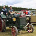 Co owners John Dickson (left), of Waikato, and Robin Dickson, of Southland, drive their 1928 Hart...