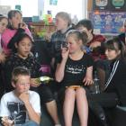 College Street School pupils, rear (from left), Emma Oliver (11), Raylea Grubb (11), Sarah...