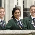 Columba College, Dunedin, pupils (from left) Laura Manson, Natasha Keillor and Erin Wilson have...