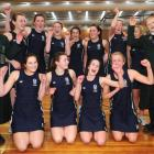 Columba College players cheer after winning the Otago secondary school championships final at the...