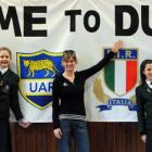 Columba College pupils (from left) Alice Toomer (14), Emily Williams (13), Kaia Bishop (13) and...
