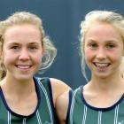 Columba College sisters Sian (left) and Hanna English after competing in the Caversham road...