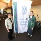 Columba College sports director Shona Harvey at the Columba College gymnasium with sports prefect...