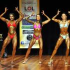 Competitors (from left) Laura Bungard, Katie Pennicott, Shannon Parsons pose. Photos by Christine...