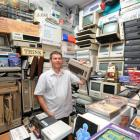 Computer enthusiast Clinton Rowe in one of the several rooms used in his Dunedin home to house...