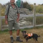Conservation Dogs New Zealand's Scott Theobold and Woody at  Orokonui Ecosanctuary.  Photo supplied.