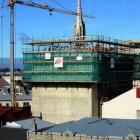 Construction begins on the addition of another level on Dunedin's Regent Theatre stage house,...