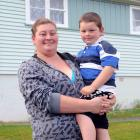 Corstorphine resident Esme Helm (28), with son Tyler Lee (4), says Mongrel Mob members have been...