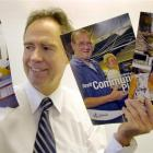 Council chief executive Jim Harland with the magazines that will be appearing in Dunedin...