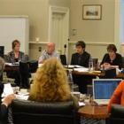 Councillors debate at the Dunedin City Council, Municipal Chambers on Tuesday. Photo by Peter...