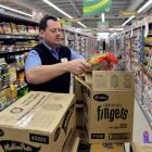 Countdown Dunedin South store manager Paul Wallace prepares for the supermarket's opening this...