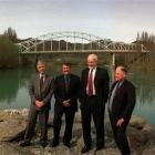 Cr  Butcher (right) with Central Otago District mayor Bill McIntosh (from left), Deputy Prime...