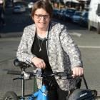 Cr Kate Wilson says cycleways will bring myriad benefits to Dunedin. Photo by Linda Robertson.