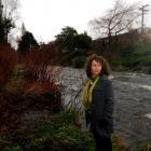Crime writer Vanda Symon beside the Leith, where she has set a murder scene in her latest novel....