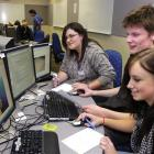 Cromwell College pupils (from left) Cheyana Wilkinson (18), Duncan Pacey (17) and Katherine...