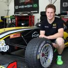 Cromwell race car driver Brendon Leitch in the Team Victory tent at Teretonga Park, Invercargill,...