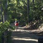 Cyclists test the Roxburgh Gorge trail. Photo by Sarah Marquet.