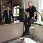 Damon Johnson (left) and Stuart Henderson at their Maori Hill home, one of three in close...