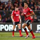 Dan Carter leaves the field during the match between the Crusaders and the Rebels. Photo by Getty...