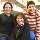 Daniela Gonzalez (left) has been helping Maria and Felipe Valtiette improve their English at...