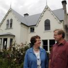 Daphne and Bill Lee stand outside their Leithendel home, situated on the hill above Malvern St in...