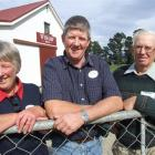 Daphne, Murray and David Rodger celebrate 100 years of their farm, Wishaw, being in Rodger family...