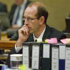 David Bain at his retrial, High Court, Christchurch, yesterday. Photo Pool.