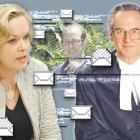 David Bain (centre) was the subject of a flurry of emails between Justice Minister Judith Collins...