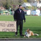 David Crosbie (44) job hunting on a Dunedin street yesterday. Photo by Peter McIntosh.