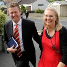 David Cunliffe and wife Karen arrive at last night's meeting of Labour Party members and...