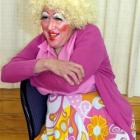 David McPhail as Dame Hilda Hardup in Jack and the Beanstalk. Photo by Jane Dawber.